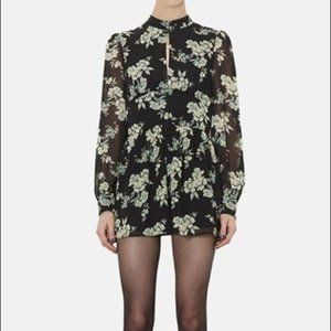 TopShop Long Sleeve Floral Romper Playsuit Sz 6